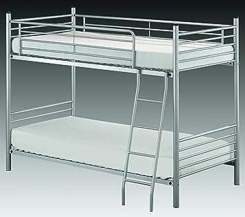 Vaja Etagenbett Hochbett Metall Silberfarbig 90x200 Amazon De