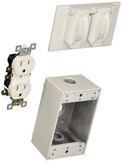 Hubbell Bell 5839 6 Cover And Duplex Receptacle Weatherproof Box