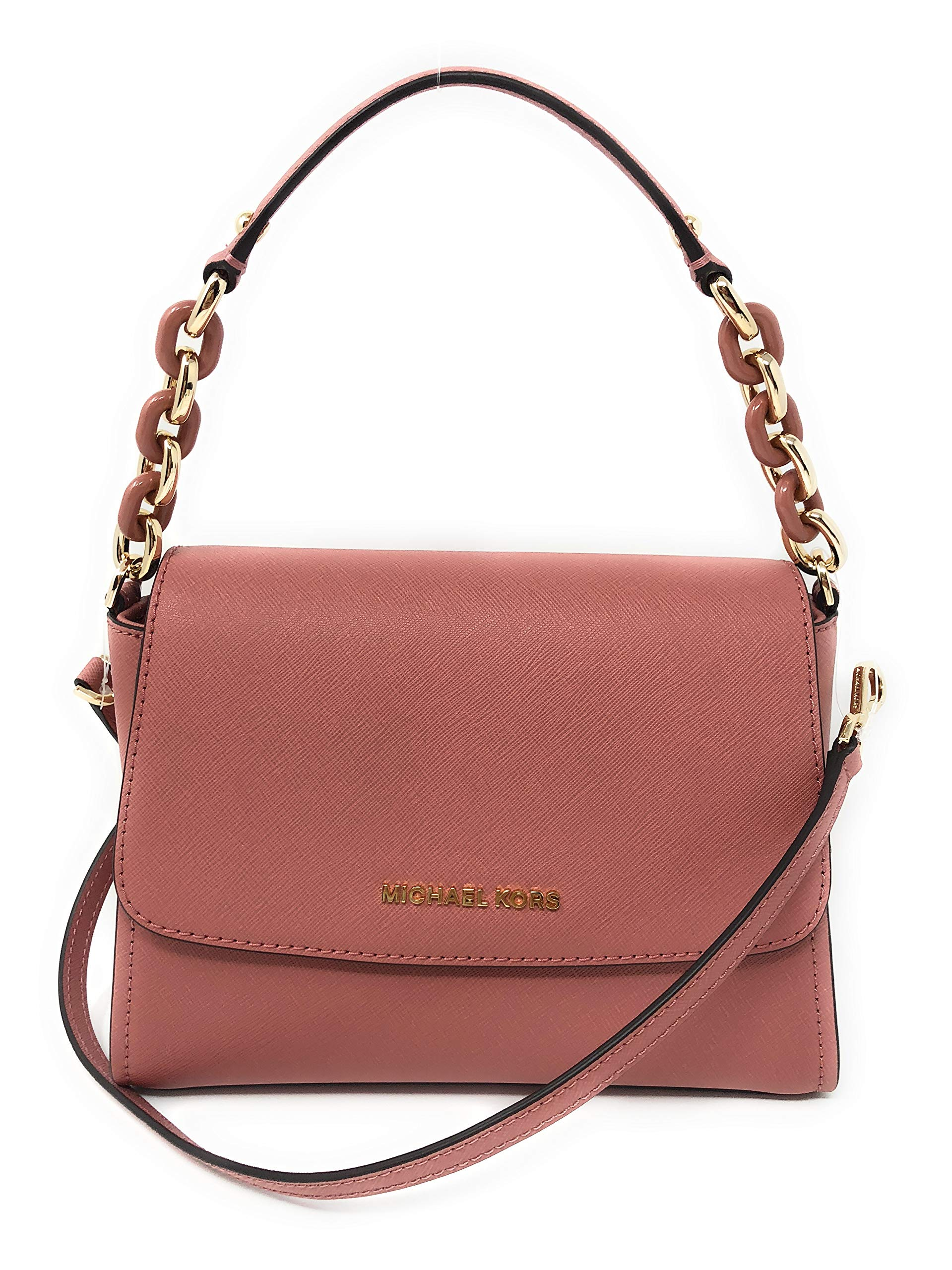 Michael Kors Small Sofia Portia East West Satchel Crossbody Rose Pink Leather