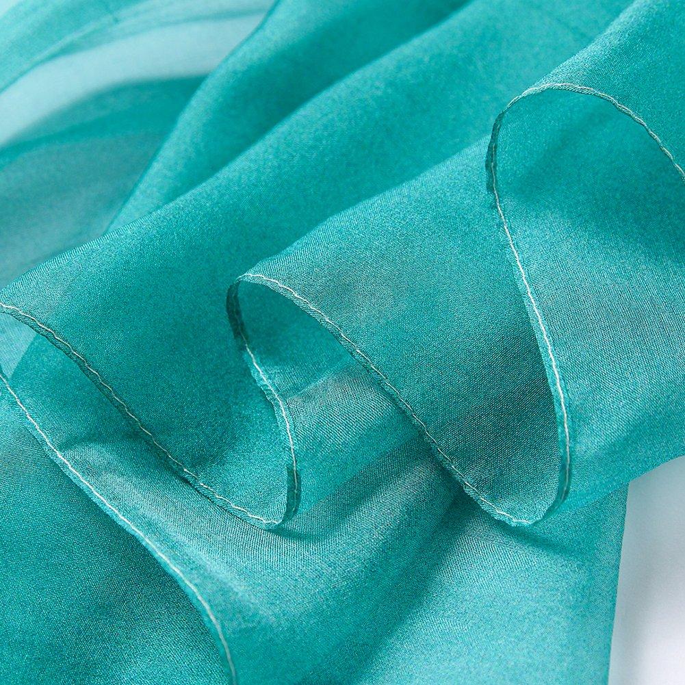 Smi/&Love Womens 100/% Silk Scarf Head Scarf For Hair Ladies Silk Floral Head Scarfs