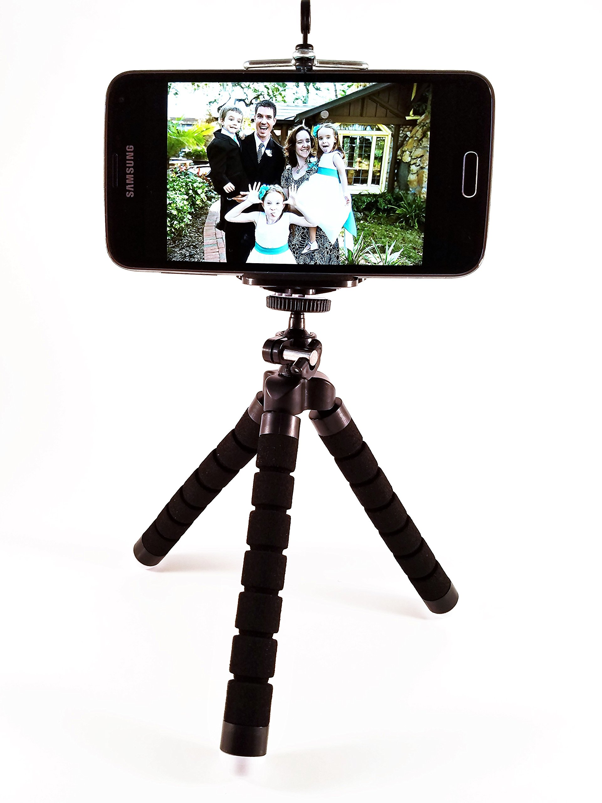 Deluxe Flexible Mini Tripod for Iphone, Samsung Galaxy with Wireless Shutter Remote, Carrying Case and Free Smartphone Photography eBook - Universal Camera Phone Stand, Holder
