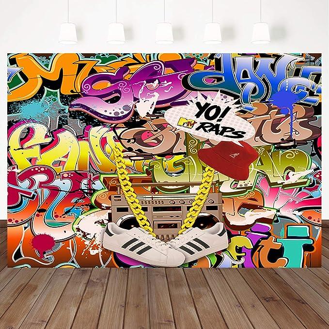 Mehofoto Hip Hop Graffiti Hintergrund Retro 80 90 Kamera
