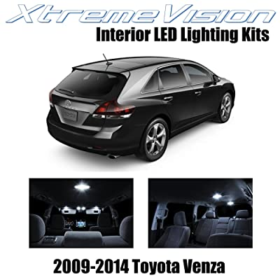 XtremeVision Interior LED for Toyota Venza 2009-2014 (14 Pieces) Pure White Interior LED Kit + Installation Tool: Automotive