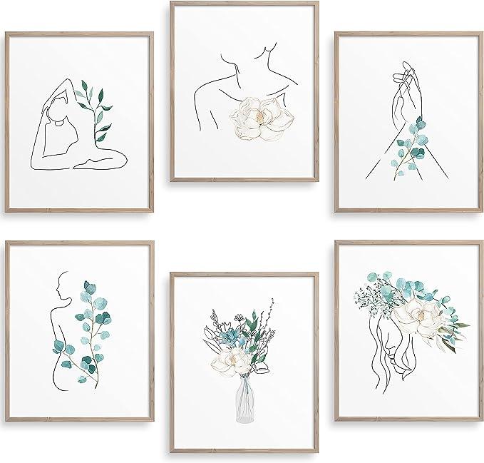 Botanical Line Art Printable Boho Art Boho Decor Botanical Print Modern Line Drawing Botanical Line Art Print Botanical Line Drawing