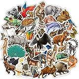 80 Pcs Waterproof Rainforest Animal Vinyl Stickers Pack for Kids Teachers Students to DIY Laptop Water Bottle Phone Case Scra