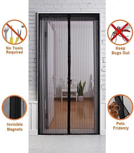 Olanstar Magnetic Screen Door For Folding Front Temporary Mesh