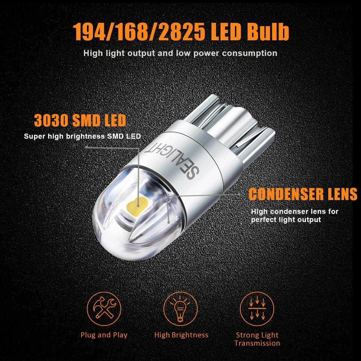 Amazon.com: SEALIGHT 194 Bombilla LED 6000 K Blanco Super ...