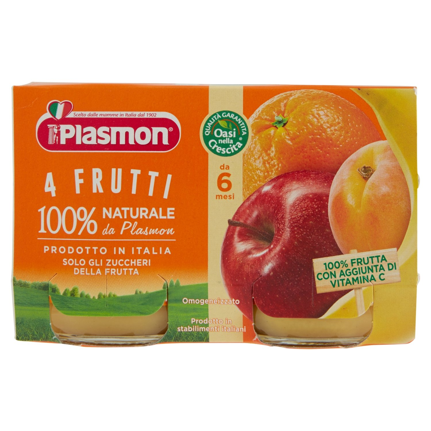 Amazon.com: Plasmon Homogenized 4 fruits 104gr x 2: Health & Personal Care