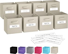Royexe Foldable Heavy-Duty Storage Cube Bins Set of 8   Collapsible Organizer Baskets  sc 1 st  Amazon.com & Storage Containers   Amazon.com