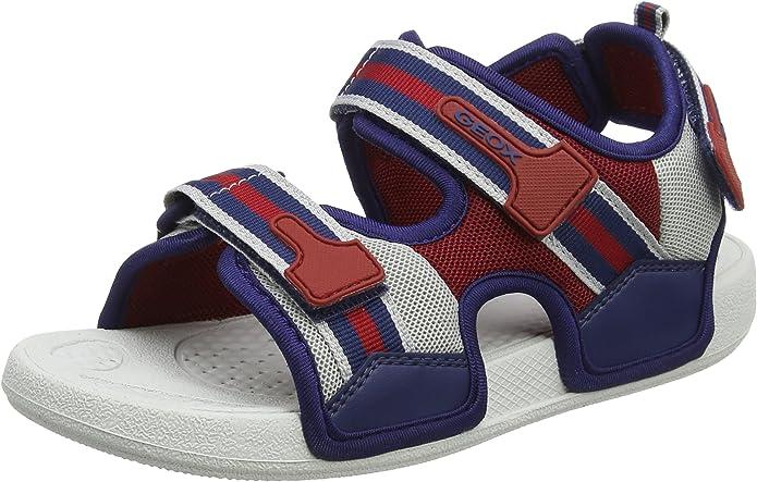 Geox Jungen J Ultrak A Peeptoe Sandal, Blau (Lt BlueBlack