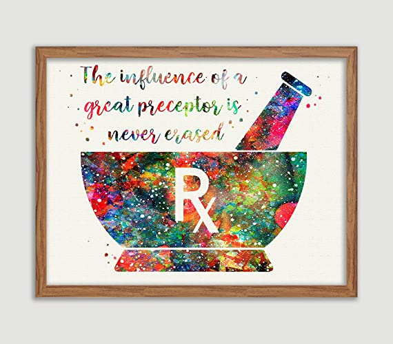 Amazon Com Pharmacist Mortar Quote Watercolor Poster Mortar And