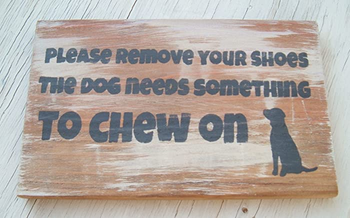 Amazon Rustic Wood Handmade SignPlease Remove Your ShoesDog
