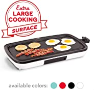 DASH Everyday Nonstick Electric Griddle for Pancakes, Burgers, Quesadillas, Eggs & other on the go Breakfast, Lunch & Snacks