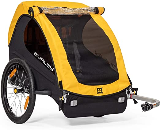 Burley Bee, 1 and 2 Seat Lightweight, Kid Bike-Only Trailer - Maximum Safety Features