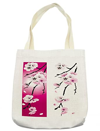 16adedb20c Amazon.com - Ambesonne Floral Tote Bag