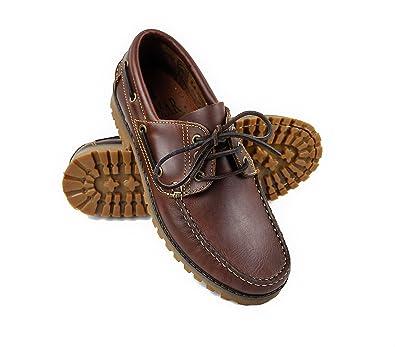 Zerimar Zapato Náutico de Piel para Hombre Náutico para Hombre Color Cuero Talla 40 gbsJAEJA