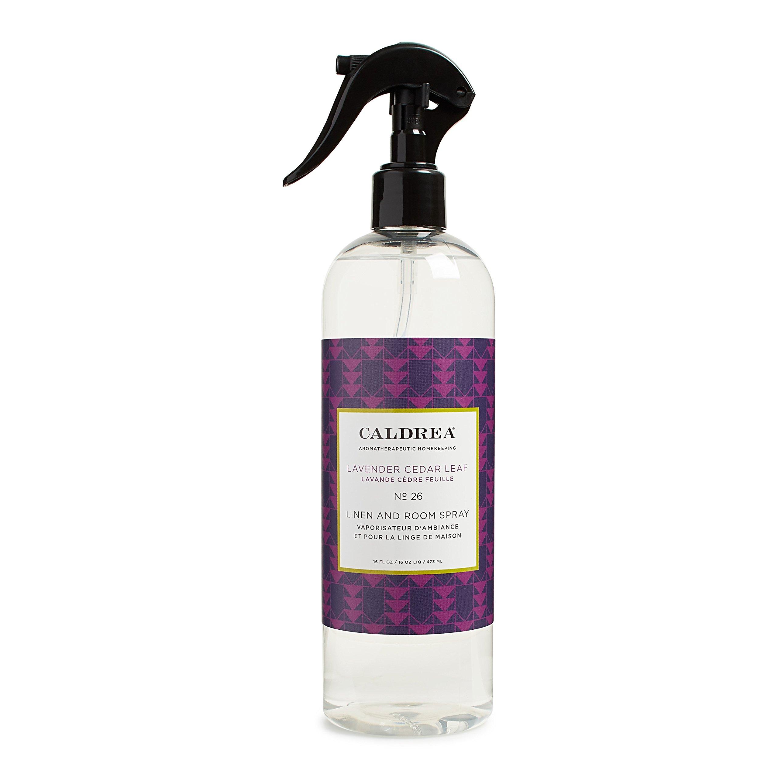 Caldrea Linen and Room Spray, Lavender Cedar Leaf, 16 oz by Caldrea