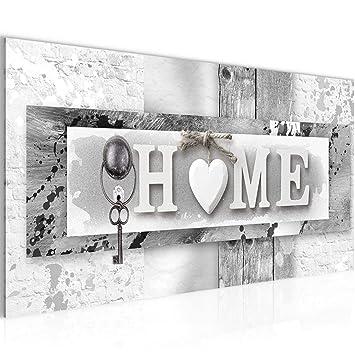 Bilder Home Wandbild Vlies - Leinwand Bild XXL Format Wandbilder Wohnzimmer  Wohnung Deko Kunstdrucke Grau 1 Teilig - MADE IN GERMANY - Fertig zum ...