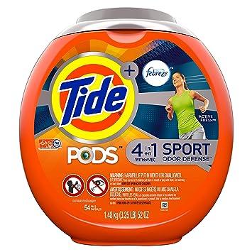 Tide Pods Plus Detergente Febreze olor defensa Pacs, 56 Ounce, 1 ...