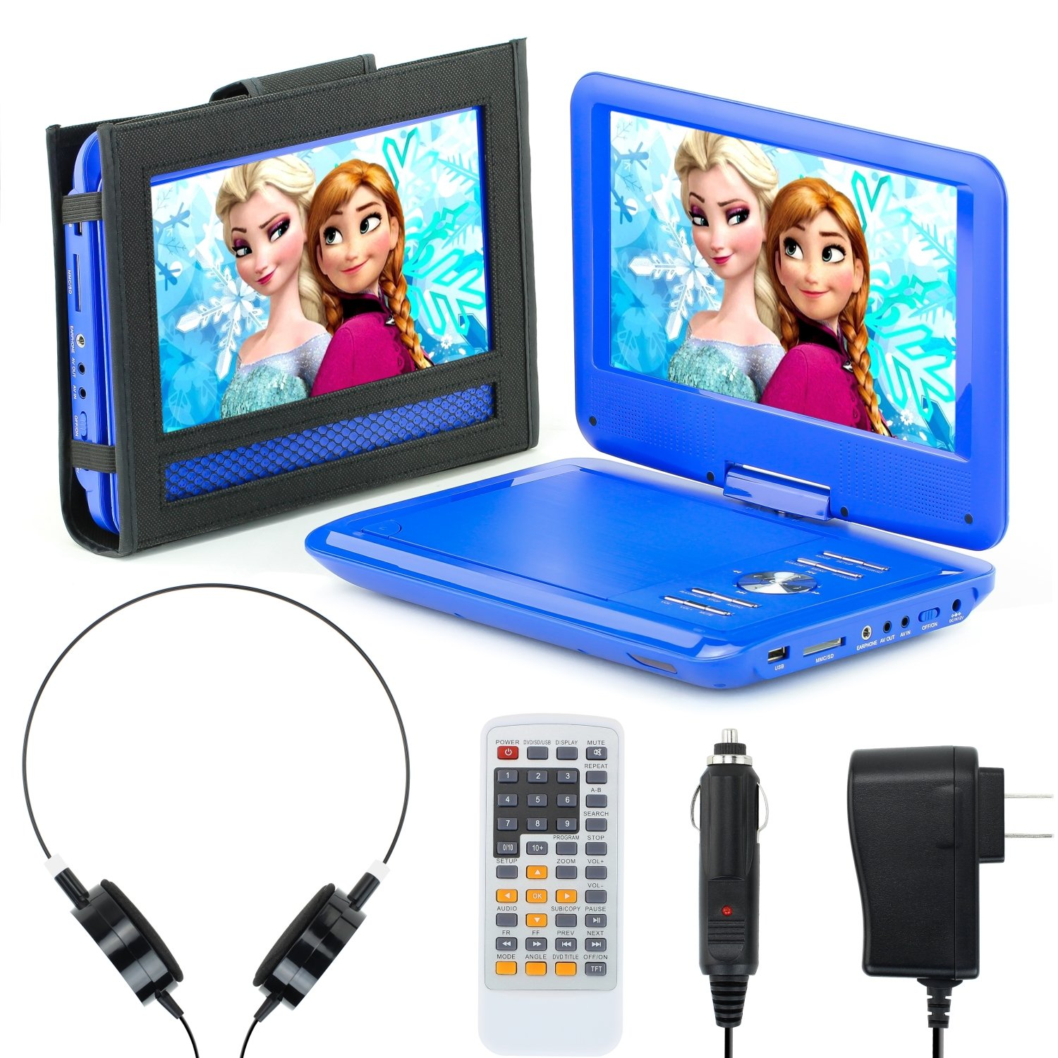 Portable DVD Player for Car, Plane & more - 7 Car & Travel Accessories Included ($35 Value) - 9'' Swivel Screen - Whopping 6 Hour Battery Life - Perfect Portable DVD Player for Kids
