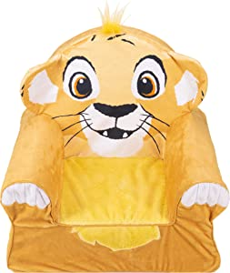 Marshmallow Furniture Foam Toddler Comfy Chair Kid's Furniture for Ages 18 Months and Up, Disney's The Lion King
