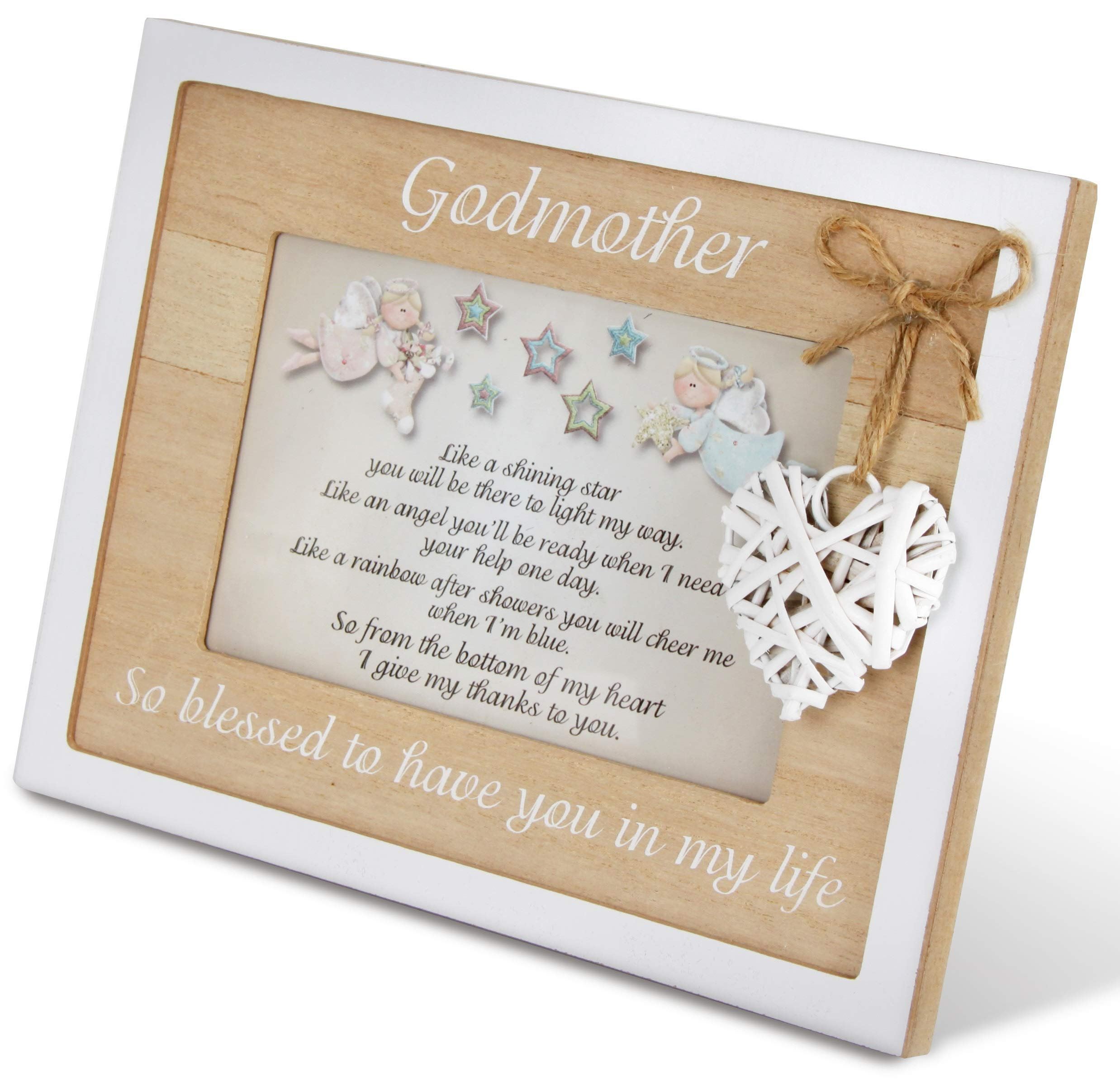 Godmother Frame 4x6 Perfect Godmother Gift from Godchild for Christening Baptism Christmas Beautiful Quality Picture Frame Keepsake Godparent Gifts