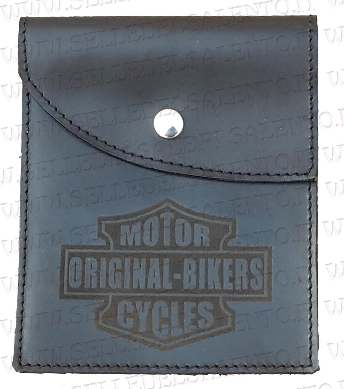 Portadocumenti porta libretto vera pelle incisione motorcyles original bikers