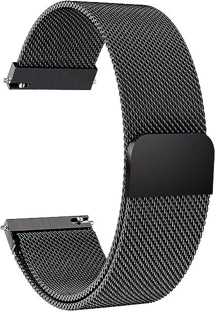 Armband Edelstahl schwarz 22mm Magnet-Loop für Samsung Galaxy Gear S3 SM-R760