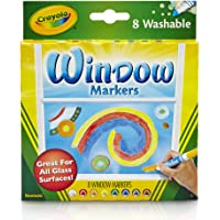 Crayola Washable Window Markers, Car Window Markers, 8 Count