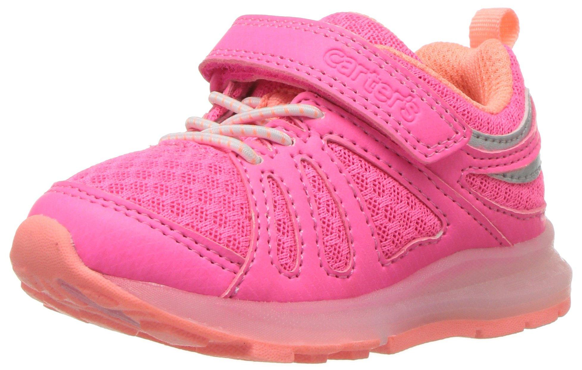 Carter's Unisex-Kids Shelby Boy's and Girl's Light Sneaker, Pink, 11 M US Little Kid