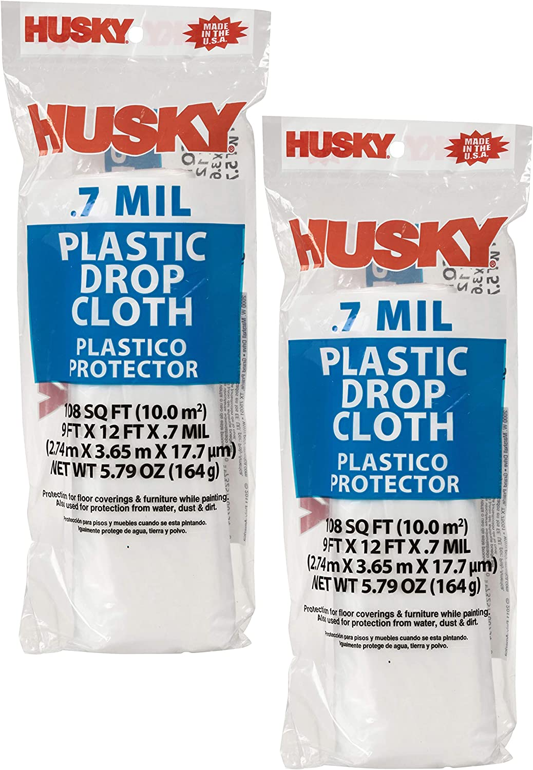 2 Pack Husky RS403-50C Plastic Sheeting Opaque 9 x 12 - .4 MIL 3 x 50