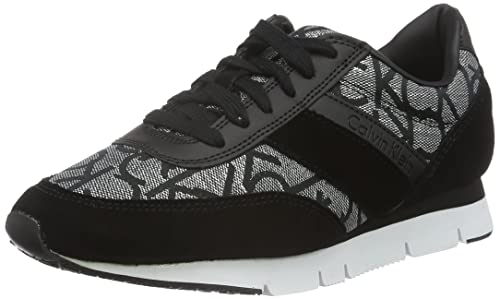 Calvin Klein Tea Metallic Jacquard/Suede, Zapatillas para Mujer: Amazon.es: Zapatos y complementos