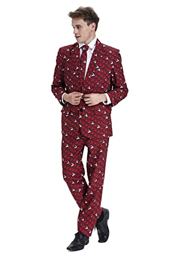 YOU LOOK UGLY TODAY Costume Homme Party Suits 3 Pièces - Veste ... 105195783d0