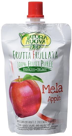 Natura Nuova Puré Fruta de Manzana - Paquete de 18 x 100 gr - Total: