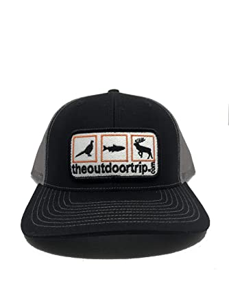 1a7a26b9a8 Black Snapback Ball Cap - Deer Duck and Turkey Hunting with Grey ...