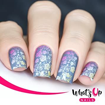Amazon Whats Up Nails P026 Faded Floral Water Decals Sliders