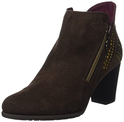 Desigual Shoes_Frida Studs, Bottes Chelsea Femme, Marron (Chestnut), 39 EU