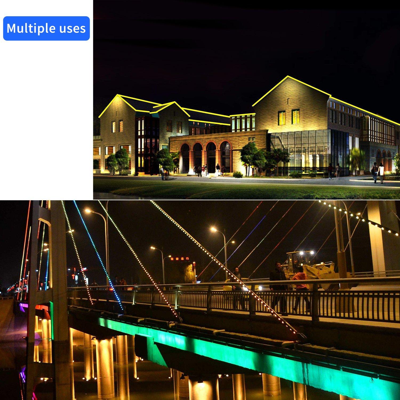 288 Daylight White LEDs 110V Plugin Rope Lights 2 Wire GuoTonG 26.2ft//8m