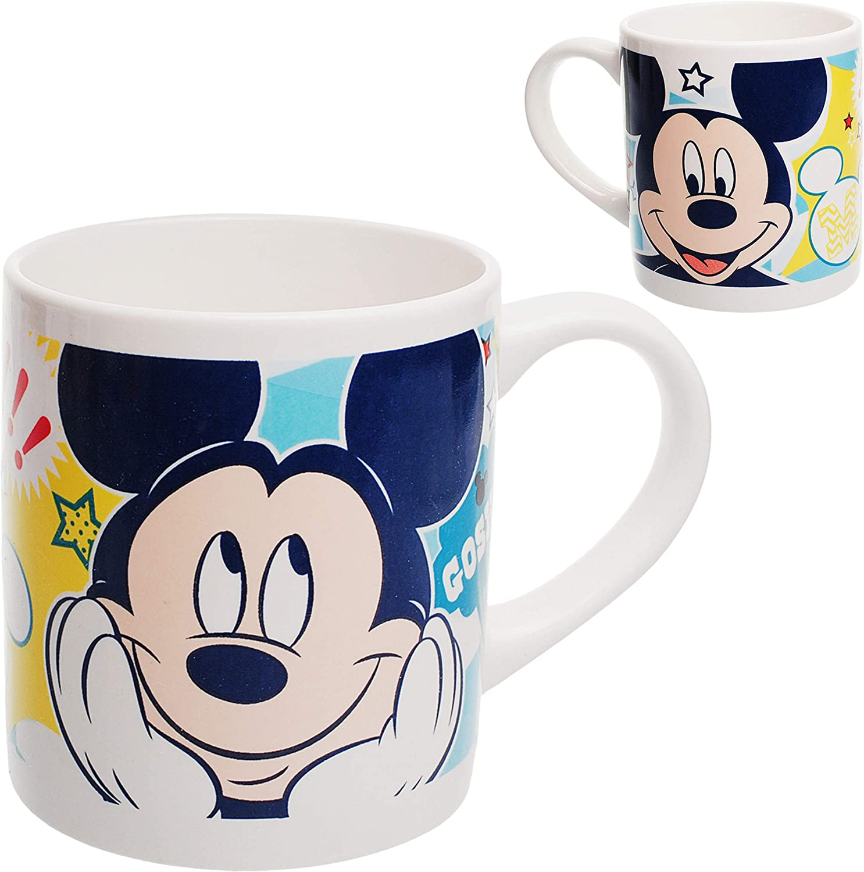 Geschirrset Mickey Mouse Fr/ühst/ücksset f/ür Kin.. inkl Teller Disney Porzellan // Keramik M/üslischale Trinktasse alles-meine.de GmbH 2 * 3 TLG Name Kindergeschirr