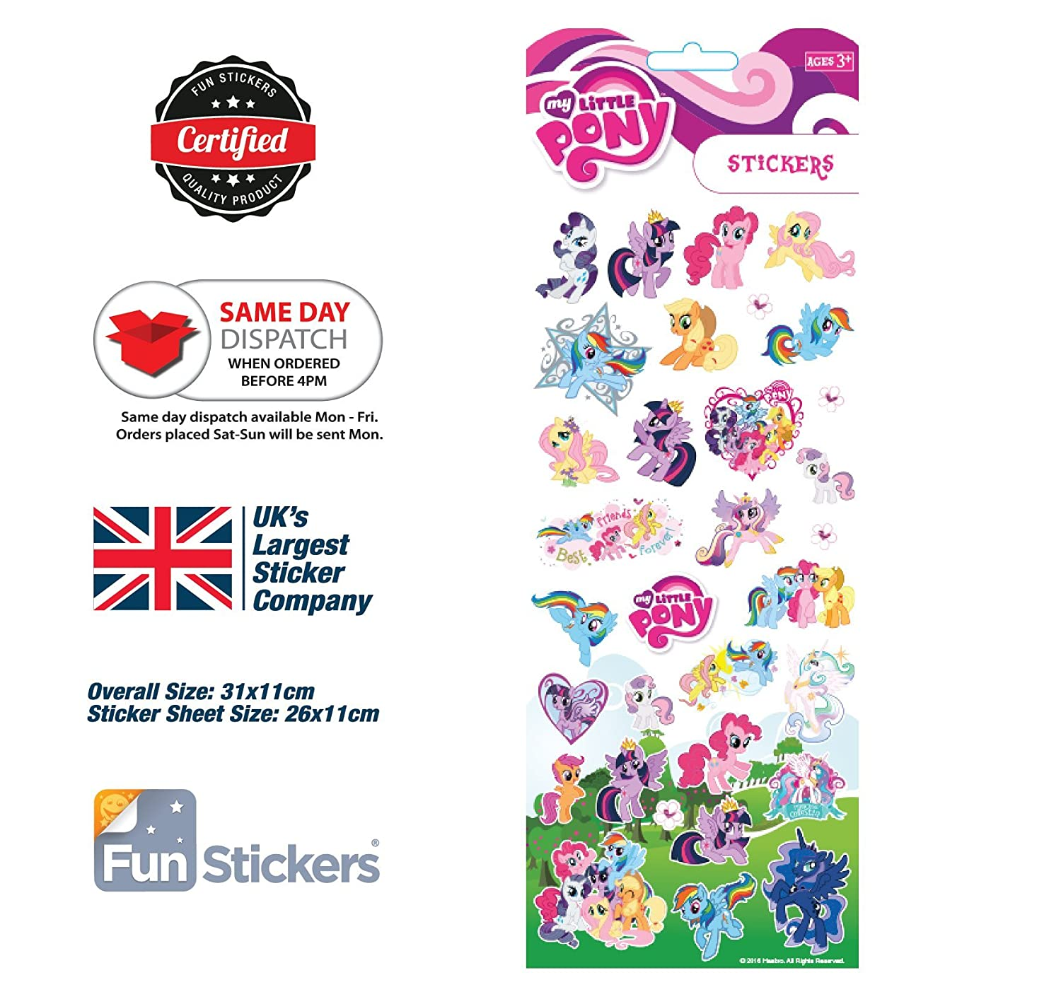 My Little Pony Sticker 1001 Funstickers
