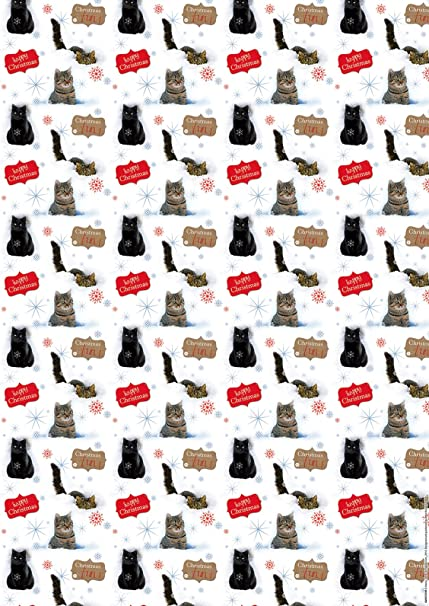 Labrador Puppy Dog /& Kitten Xmas Gift Wrap Pack In The Snow 6 Sheets 6 Tags NEW