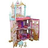 KidKraft Disney Princess Dance & Dream Wooden Dollhouse, Over 4-Feet Tall with Sounds, Spinning Dance Floor and 20 Play Piece