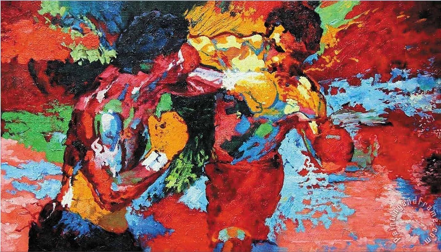 ランチョン空家CyiohArt - 5パネル アートパネル 「太陽の下で青い波」 壁掛け 風景写真の壁の写真を絵画 キャンバス絵画 ホームデコレーション用 (69インチx32インチ、木枠付きの完成品)