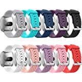 GreenInsync Bands Compatible Fitbit Versa, Replacement for Fitbit Versa Accessory Band Adjustable Bracelet Strap Large Small for Fitbit Versa Wristbands W/Metal Buckle Women Men Girls Boys