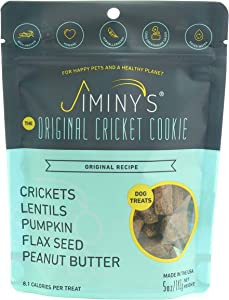 Jiminy's Cricket Protein Peanut Butter & Pumpkin Cricket Cookie Treats | 100% Made in The USA | Gluten-Free | Sustainable | Limited Ingredients | High Protein | Hypoallergenic