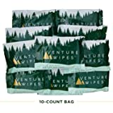 Venture Wipes: Large 12x12 Inch Individually Wrapped Body Wipes (10-Count) - Natural Ingredients & Biodegradable. Textured Wipe with Tea Tree Oil is a Outdoor Shower in a Pouch #DirtHappens