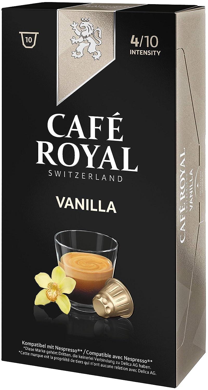 Café Royal Flavoured Edition Vanilla 50 cápsulas compatibles con Nespresso* Intensidad: 4 de 10 (Pack de 5 x 10 cápsulas): Amazon.es: Alimentación y bebidas