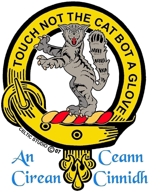MacIntosh Clan Crest Scottish Thistle Brooch