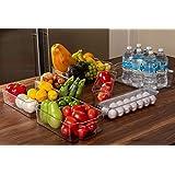 Juego de 7 Cajas Organizadoras para Refrigerador y Congelador, Apilables de Plástico Premium, Para Almacenamiento de Alimento
