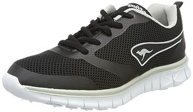 KangaROOS Damen K-March Sneaker, Schwarz (Jet Black/Dk Silver), 46 EU